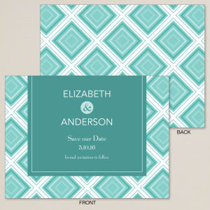 Geometric Affair Save the Date Card