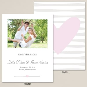 Natural Love Save the Date Card