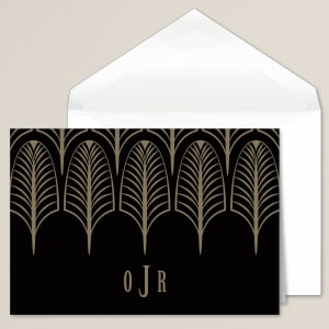 Deco Feathers Thank You Note