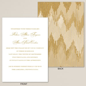 Elegant Deco Wedding Invitation