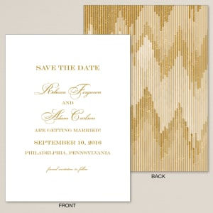 Elegant Deco Save the Date Card