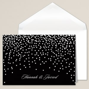 Evening Sparkle Thank You Note