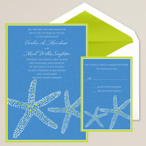 Seaside Romance Wedding Invitation