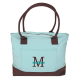 Cotton Canvas Shoulder Tote in Clearwater Blue