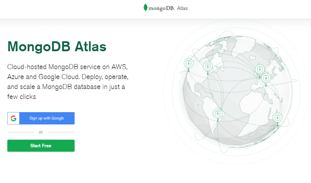 Mongo Atlas Home Page