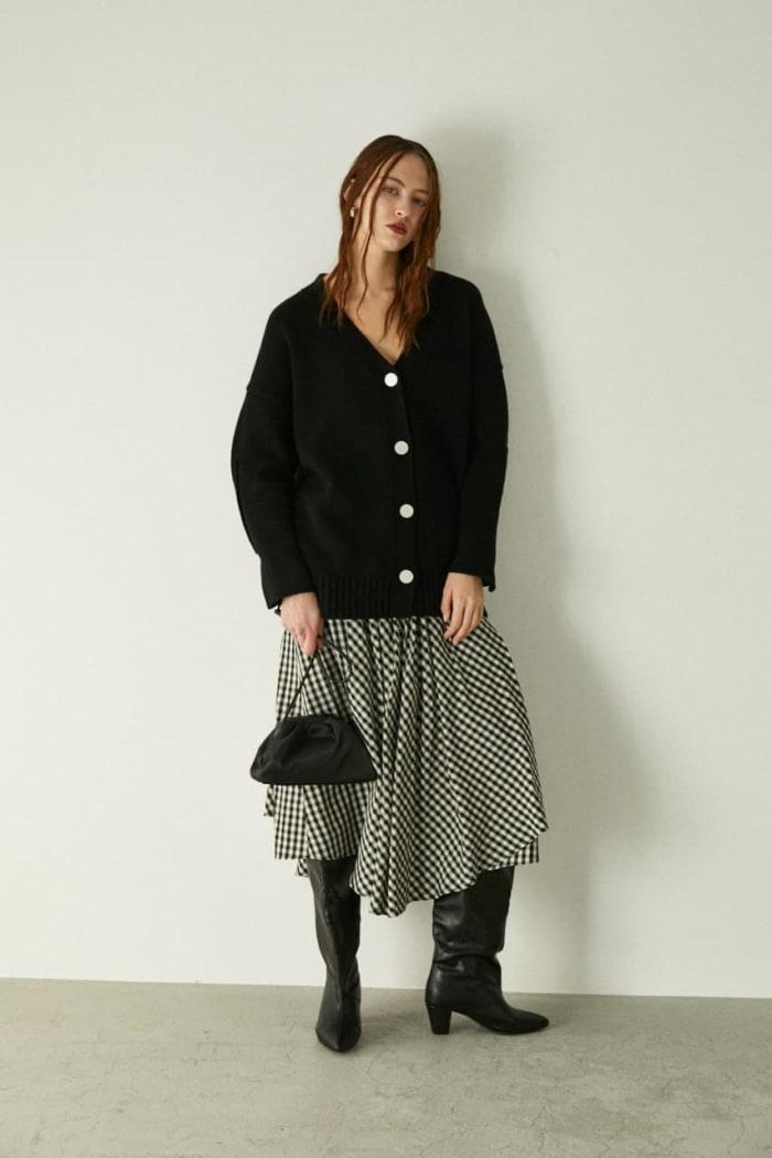 GINGHAM FLARE skirt