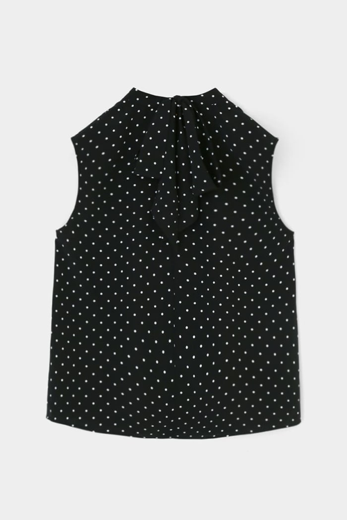 DOT SLEEVELESS BLOUSE