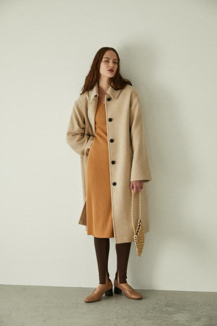 BACK TUCK MOSSER coat