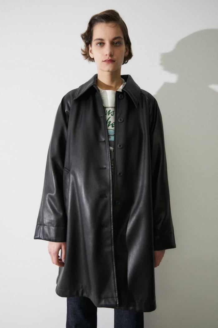 Faux LEATHER A LINE jacket