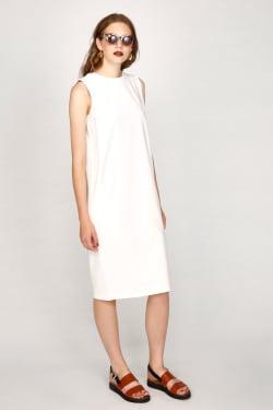 SHOULDER TUCK SLEEVELESS dress