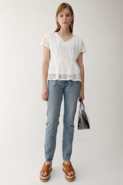 LACE TUCK Tops