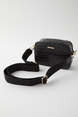 FAUX CROCO SHOULDER bag