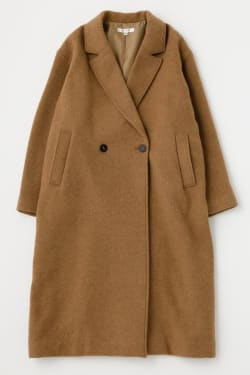 A LINE WOOL LONG coat