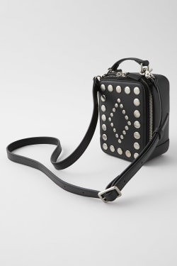 STUDDED SQUARE MINI bag