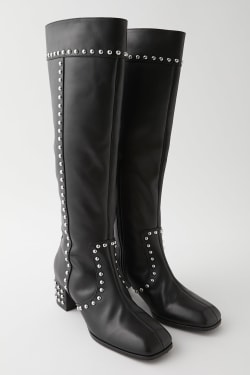 STUDDED KNEE LONG Boots