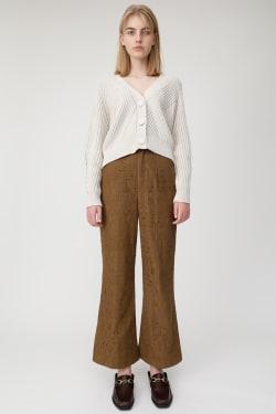 BIG BUTTON SHORT knit cardigan