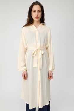 SATIN SHIRT long dress