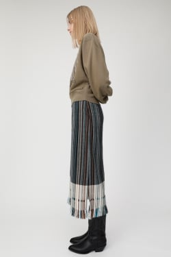 STRIPED FRINGE skirt