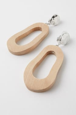 WAVE WOOD EARRINGS