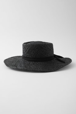 NARROW RIBBON RAFFIA Hat