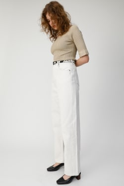 HIGH WAIST LOOSE WHT STRAIGHT