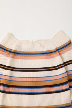 SQUARE NECK MULTI STRIPE Tops