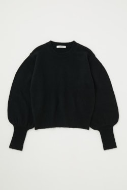 VOLUME SLEEVE knit tops