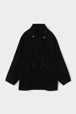 OVERSIZED STAND COLLAR coat