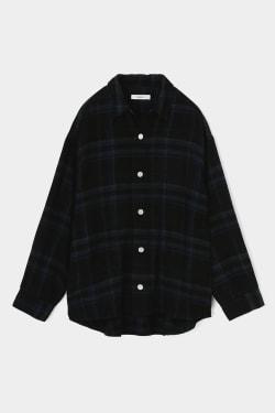 INDIGO CHECK SHIRT jacket