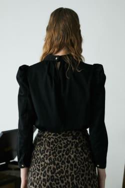 DENIM PUFF SLEEVE blouse
