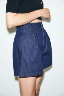 DENIM FLARE shorts