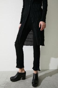 RANDOM RIB FLARE pants