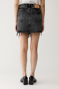 MOUSSY VINTAGE RIPLY SKIRT BLACK