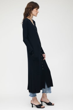 MV Wool Rib Long Cardigan