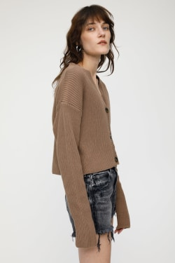 MV RIB STITCH CARDIGAN