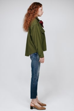 MV Satin Back Military Shirt