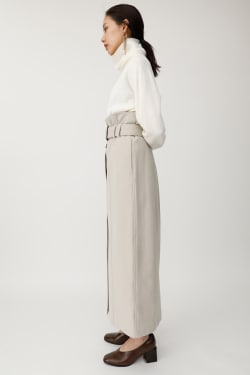 FRONT BUTTON TR long skirt