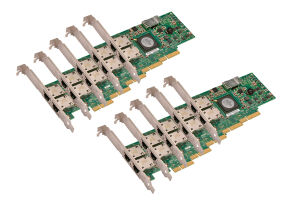 Dell Broadcom 5709 1Gb Dual Port Full Height Network Card - G218C *10 Pack* - Ref