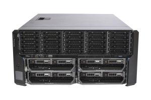 Dell PowerEdge VRTX 1x25 - 4 x M620, 2 x E5-2670 v2, 32GB, 2 x 600GB SAS 10k, PERC H710P, iDRAC7 Enterprise