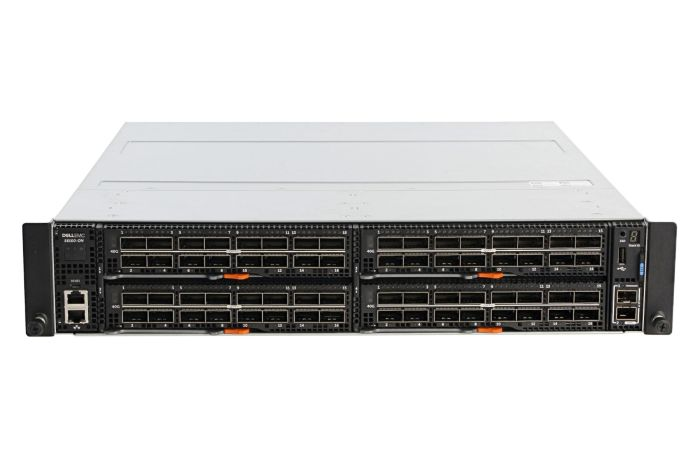 Dell Networking S6100-ON Chassis + 4x (16 x 40GbE) QSFP+ Modules w/ 2 x PSU - NOB