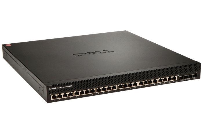 Dell PowerConnect 8024 24 x 10GbE RJ45 + 4 x SFP+ combo ports Switch w/ 2 x PSU - Ref