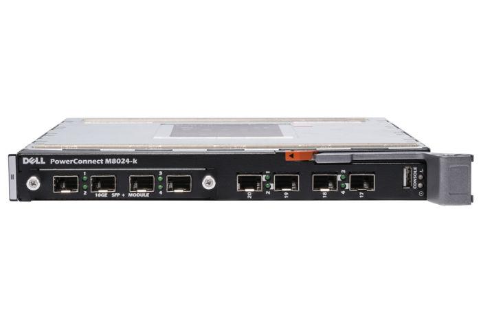 Dell PowerConnect M8024-k 16 x 10GbE Int. Ports Blade Switch w/ 10Gb SFP+ Uplink Module - Ref