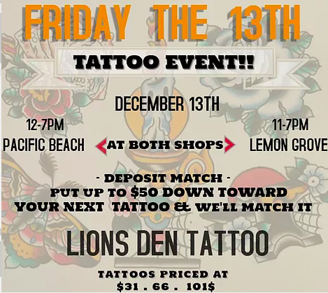 Top 5 Places To Get Inked On Friday The 13th