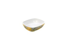 Tarjoilukulho melamiini puukuvio/keltainen GN 1/2