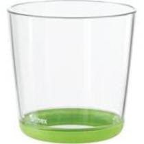 Juomalasi kirkas/limenvihreä 2 kpl/pkt 20 cl
