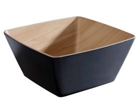 Kulho pinottava melamiini musta/koivu 3,5 L