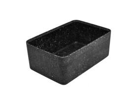 Kulho melamiini musta 17,5x26x10 cm 3,2 L