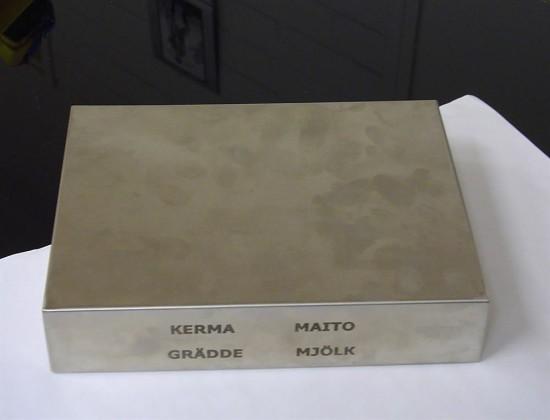 Kylmälevy rst 21x16x4,5 cm