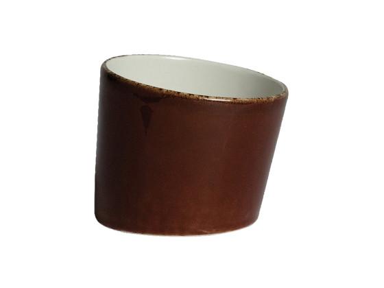 Kulho vinoreunainen tummanruskea Ø 7,9 cm