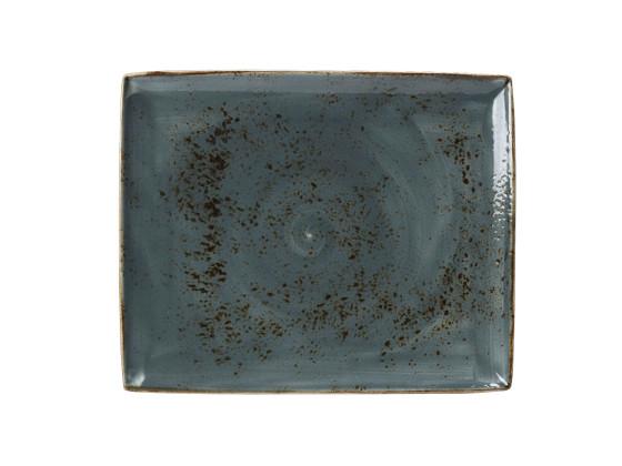Lautanen suorakaide sininen 33x27 cm